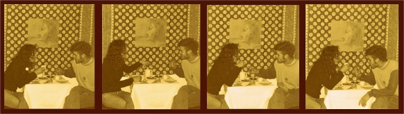 ¿Tomamos un café?, Córdoba, 2000, Universidad Nacional de Córdoba, Escuela de Artes. Registro perteneciente a una nueva presentación de la acción en Cosquín, en el año 2001. Registro: Pedro Audap Souvie.